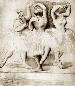 """П. Пикассо, """"Три танцовщицы"""""""